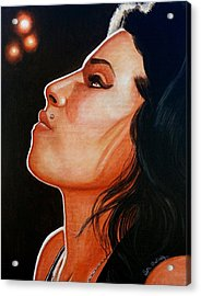 Acrylic Print featuring the painting Unforgettable Amy by Al  Molina