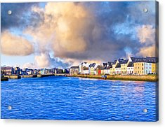 Unforgettable Galway Seaside Acrylic Print by Mark Tisdale