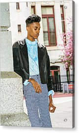 Acrylic Print featuring the photograph Unhappy School Boy  15042639 by Alexander Image