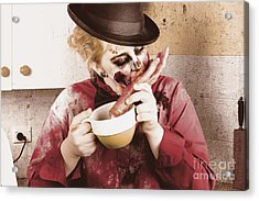 Unhealthy Zombie Eating Finger Food Acrylic Print by Jorgo Photography - Wall Art Gallery