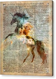 Unicorn Carina Nebula Acrylic Print by Jacob Kuch