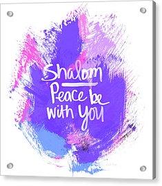 Unicorn Colors Shalom- Art By Linda Woods Acrylic Print