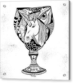 Unicorn Goblet Acrylic Print by Kenal Louis