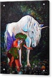 Unicorn Magic Acrylic Print by Michael Durst