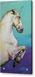 Unicorn Acrylic Print by Michael Creese