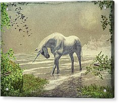 Unicorn Moon Acrylic Print by Bob Orsillo