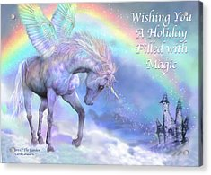 Unicorn Of The Rainbow Card Acrylic Print