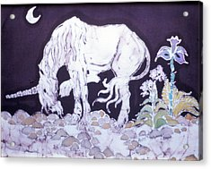 Unicorn Pauses Acrylic Print by Carol  Law Conklin