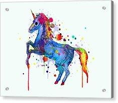 Unicorn Skeleton 2.0 Acrylic Print