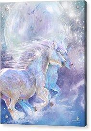 Acrylic Print featuring the mixed media Unicorn Soulmates by Carol Cavalaris