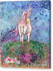 Unicorn Tears Acrylic Print
