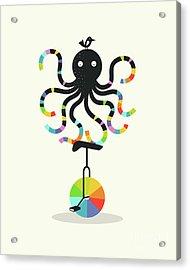 Unicycle Octopus Acrylic Print