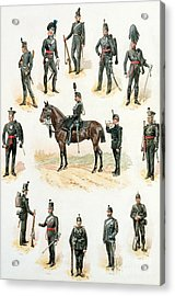 Uniforms Of The Rifle Brigade Acrylic Print