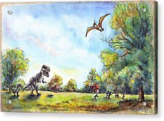 Uninvited Picnic Guests Acrylic Print