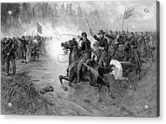 Union Cavalry Charge Acrylic Print by War Is Hell Store