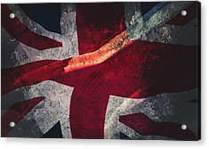 Union Jack Fine Art, Abstract Vision Of Great Britain Flag Acrylic Print