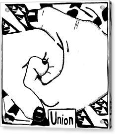 Union Maze Acrylic Print by Yonatan Frimer Maze Artist
