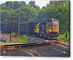 Union Pacific #4194 In A Curve Acrylic Print