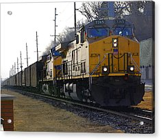 Union Pacific 7265 Acrylic Print by Jame Hayes