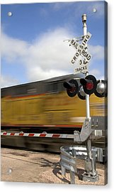 Union Pacific Coal Train Acrylic Print by David R Frazier and Photo Researchers