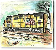 Union Pacific Engine Acrylic Print by Matt Gaudian