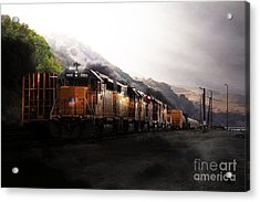 Union Pacific Locomotive At Sunrise . 7d10561 Acrylic Print by Wingsdomain Art and Photography