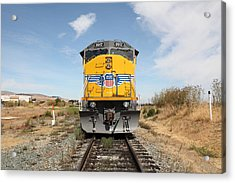 Union Pacific Locomotive Trains . 5d18644 Acrylic Print by Wingsdomain Art and Photography