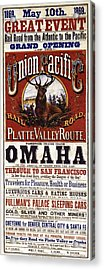 Union Pacific Railroad Opens The West - May 10, 1869 Acrylic Print by Daniel Hagerman