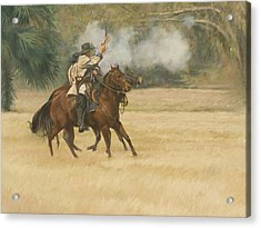 Union Riders Acrylic Print by Linda Eades Blackburn