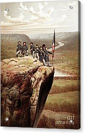 Union Soldiers On Lookout Mountain, Tennessee Acrylic Print by James Fuller Queen
