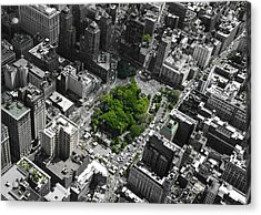 Acrylic Print featuring the photograph Union Square Park by Rand