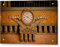 Union Station Clock Acrylic Print