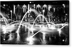 Acrylic Print featuring the photograph Union Station Fountains by Stephen Holst