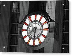 Union Terminal Clock Acrylic Print by Russell Todd