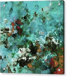 Acrylic Print featuring the painting Unique Abstract Art / Landscape Painting by Ayse Deniz