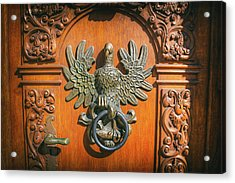 Unique Bird Door Knocker Gdansk Poland  Acrylic Print
