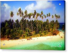 Unique Symbolic Island Art Photography Icon Zanzibar Sands Beaches Tourist Destination. Acrylic Print