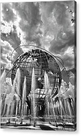 Unisphere And Fountains Flushing Meadow Park Nyc Acrylic Print