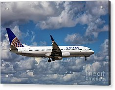 United Airlines Boeing 737 Ng Acrylic Print