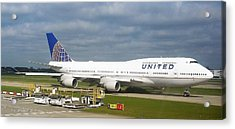 United Airlines Boeing 747-400 Acrylic Print