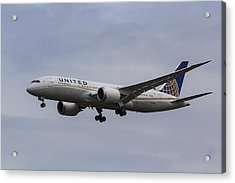 United Airlines Boeing 787 Acrylic Print