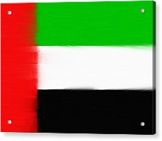 United Arab Emirates Painted Flag Acrylic Print by Dan Sproul