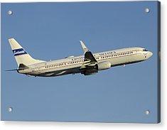 United Boeing 737-924 N75436 Retro Continental Phoenix Sky Harbor December 9 2015 Acrylic Print by Brian Lockett