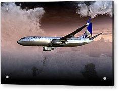 United Continental 737 Ng 01 Acrylic Print