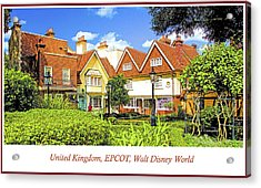 United Kingdom Buildings, Epcot, Walt Disney World Acrylic Print