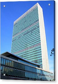 Acrylic Print featuring the photograph United Nations 1 by Randall Weidner