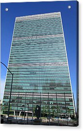Acrylic Print featuring the photograph United Nations 3 by Randall Weidner