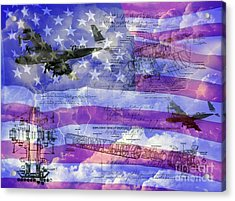 Acrylic Print featuring the photograph United States Armed Forces One by Ken Frischkorn