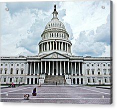 Acrylic Print featuring the photograph United States Capitol by Suzanne Stout