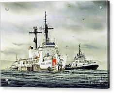 United States Coast Guard Boutwell Acrylic Print by James Williamson